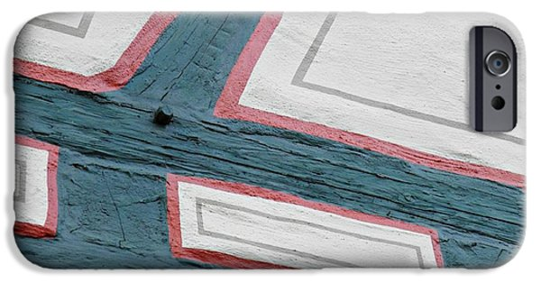 Building iPhone Cases - German Half-Timber Abstract 3 iPhone Case by Sarah Loft