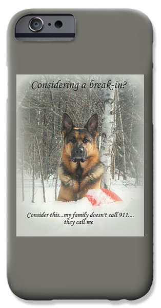 Recently Sold -  - Law Enforcement iPhone Cases - German Shepherd 911 iPhone Case by Sue Long