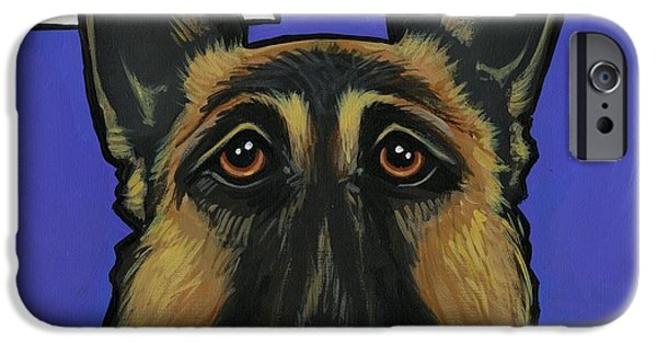 Police Dog iPhone Cases - German Shepherd iPhone Case by Leanne Wilkes