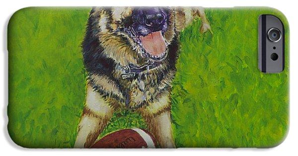 Police iPhone Cases - German Shepherd Portrait iPhone Case by Enzie Shahmiri