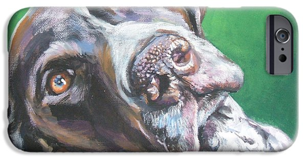 L.a.shepard iPhone Cases - German Shorthaired Pointer iPhone Case by Lee Ann Shepard