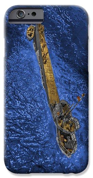 War iPhone Cases - German submarine U-505 iPhone Case by John Straton