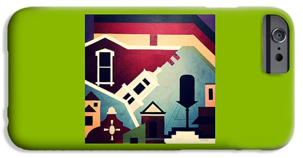 Nashville Tennessee Paintings iPhone Cases - Germantown Nashville iPhone Case by Carol Neal