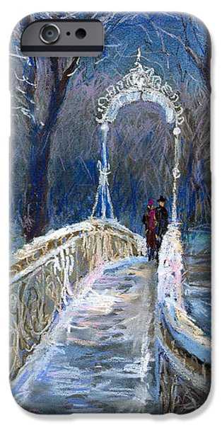 Snow Pastels iPhone Cases - Germany Baden-Baden 02 iPhone Case by Yuriy  Shevchuk