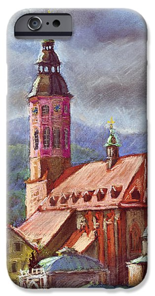 Old Pastels iPhone Cases - Germany Baden-Baden 05 iPhone Case by Yuriy  Shevchuk