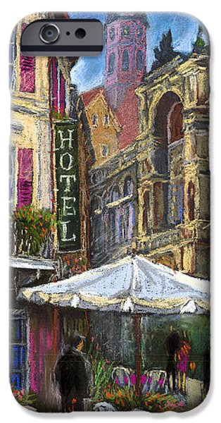Old Pastels iPhone Cases - Germany Baden-Baden 07 iPhone Case by Yuriy  Shevchuk