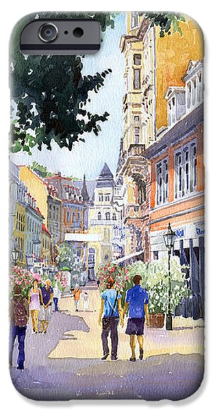 Germany Baden-Baden Lange Strasse iPhone Case by Yuriy  Shevchuk
