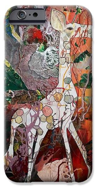 Gloss Varnish iPhone Cases - Gerry the Giraffe iPhone Case by Jan Steadman-Jackson