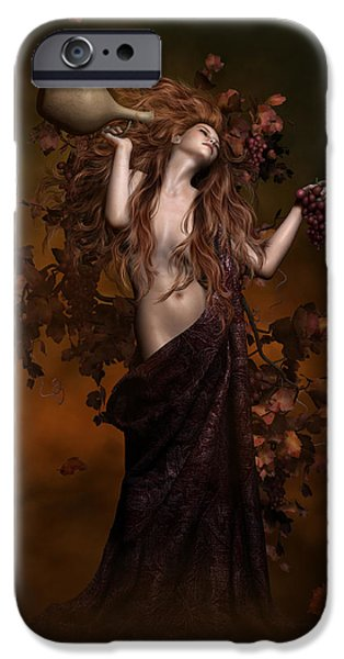 Heavenly iPhone Cases - Geshtinanna Goddess of Grape Vine iPhone Case by Shanina Conway