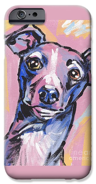 Greyhound iPhone Cases - Gettin Iggy Wit It iPhone Case by Lea