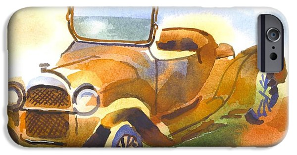 Mechanics Paintings iPhone Cases - Getting a Little Rusty iPhone Case by Kip DeVore