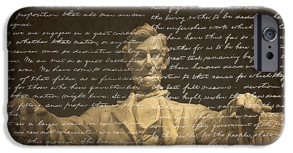 Lincoln iPhone Cases - Gettysburg Address iPhone Case by Diane Diederich