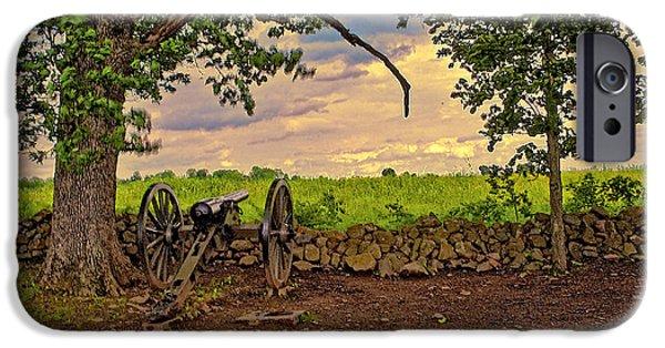Gettysburg Digital Art iPhone Cases - Gettysburg Cannon iPhone Case by Madeline Ellis