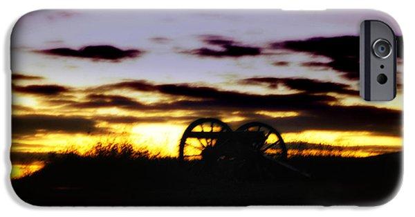 Gettysburg Digital iPhone Cases - Gettysburg Dawn iPhone Case by Bill Cannon