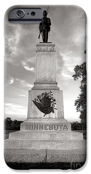 Minnesota iPhone Cases - Gettysburg National Park 1st Minnesota Infantry Monument iPhone Case by Olivier Le Queinec