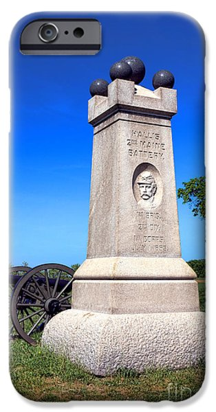 Brigade iPhone Cases - Gettysburg National Park 2nd Maine Battery Memorial iPhone Case by Olivier Le Queinec