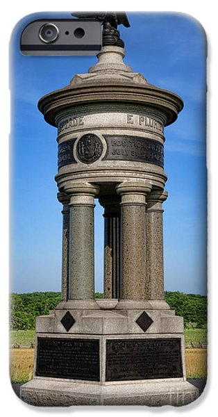 Regiment iPhone Cases - Gettysburg National Park 71st and 72nd New York Infantry Memorial iPhone Case by Olivier Le Queinec