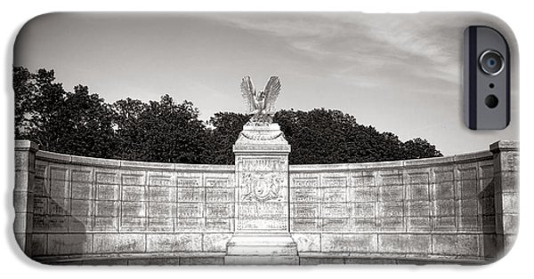 War iPhone Cases - Gettysburg National Park New York Auxiliary Monument iPhone Case by Olivier Le Queinec