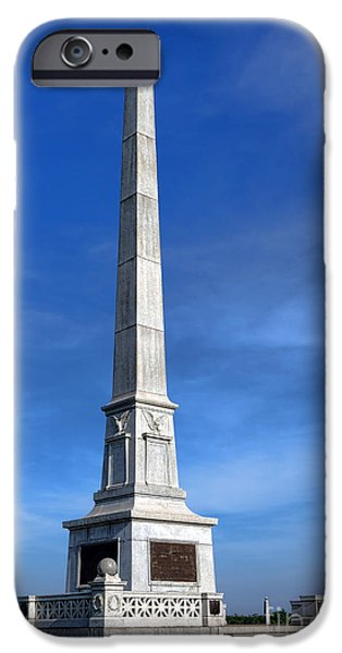 War iPhone Cases - Gettysburg National Park United States Army Regulars Memorial iPhone Case by Olivier Le Queinec