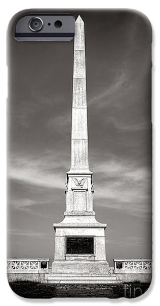 War iPhone Cases - Gettysburg National Park United States Army Regulars Monument iPhone Case by Olivier Le Queinec