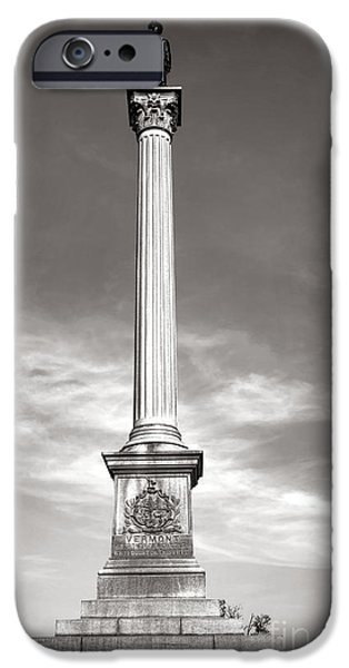 Brigade iPhone Cases - Gettysburg National Park Vermont Stannard Brigade Monument iPhone Case by Olivier Le Queinec