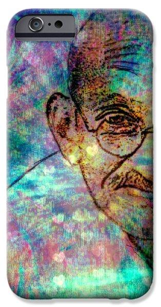Ghandi iPhone Case by WBK