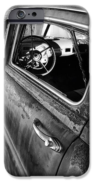 Old Cars iPhone Cases - Ghost Driver iPhone Case by Brad Hodges