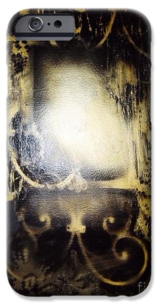 Haunted House iPhone Cases - Ghost In The Mirror iPhone Case by Sarah  Rachel