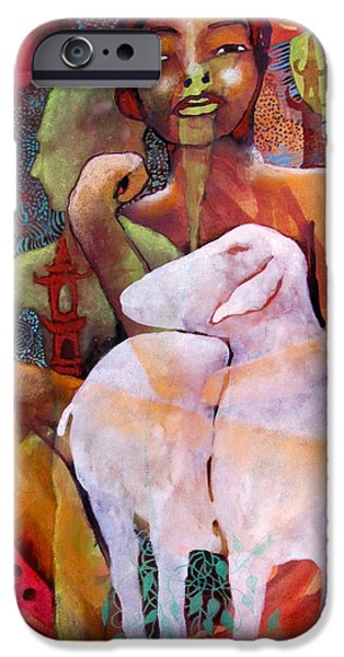 Statue Portrait iPhone Cases - Ghost Memories iPhone Case by James Huntley