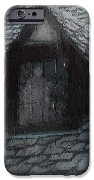 Ghost Rain iPhone Case by RC DeWinter
