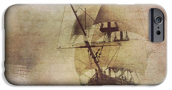 Pirate Ship iPhone Cases - Ghost Ship iPhone Case by Amanda  Lakey