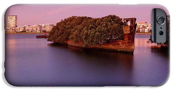 Recently Sold -  - Mangrove Forest iPhone Cases - Ghost Ship iPhone Case by Nicholas Blackwell