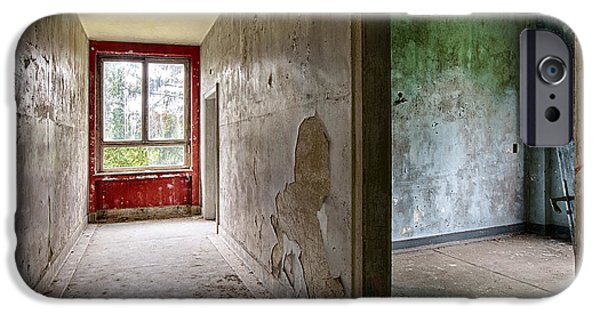 Haunted House iPhone Cases - Ghost town house  - abandoned building iPhone Case by Dirk Ercken