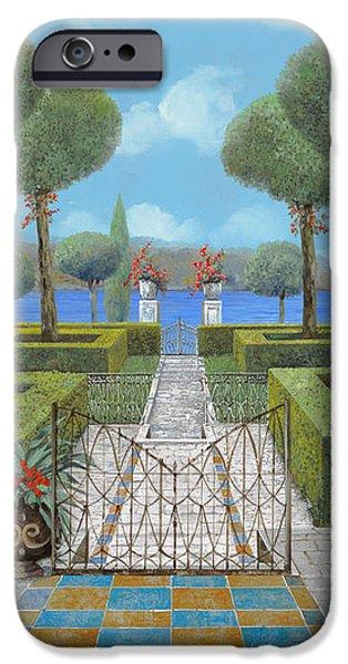 giardino italiano iPhone Case by Guido Borelli