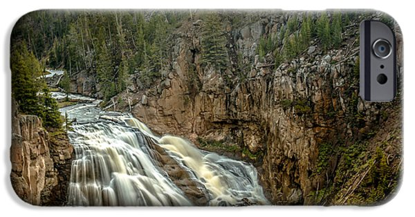Silk Water iPhone Cases - Gibbon Falls iPhone Case by Robert Bales