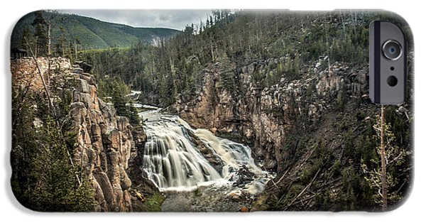 Silk Water iPhone Cases - Gibbon Waterfall iPhone Case by Robert Bales