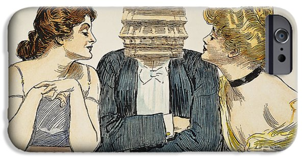 Choker iPhone Cases - Gibson Girls, 1903 iPhone Case by Granger