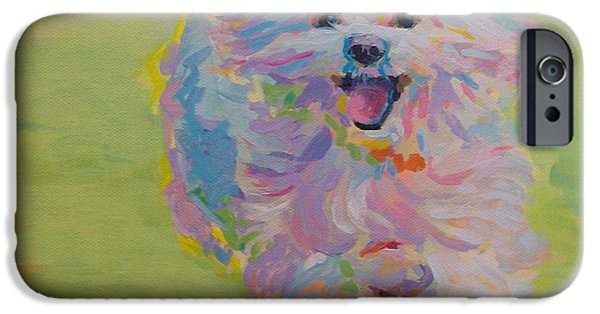 Pastel Paintings iPhone Cases - Gigi iPhone Case by Kimberly Santini