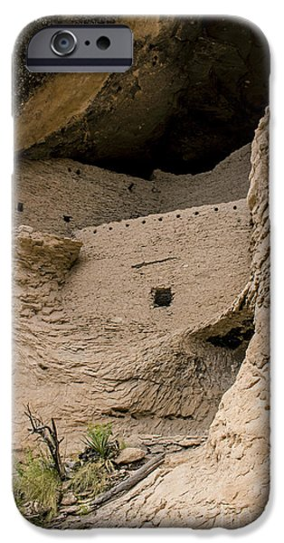 Ruin iPhone Cases - Gila Cliff Dwelling Ruins iPhone Case by Cheryl Aguiar