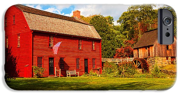 Old Mill Scenes iPhone Cases - Gilbert Stuart Museum iPhone Case by Lourry Legarde