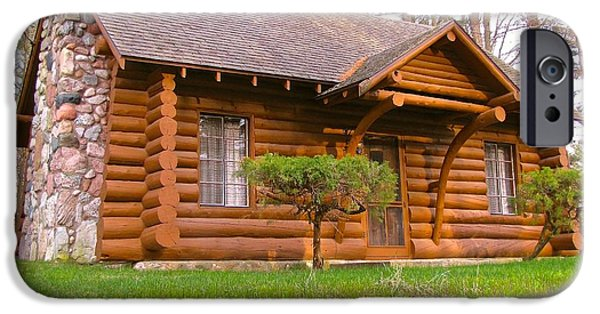 Village iPhone Cases - Gingerbread House Pentwater Michigan iPhone Case by Jane Greiner