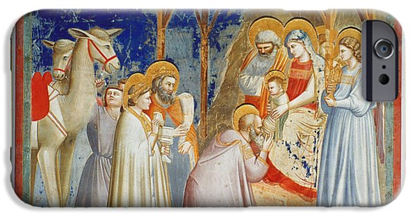 Royal Family Arts iPhone Cases - Giotto: Adoration iPhone Case by Granger