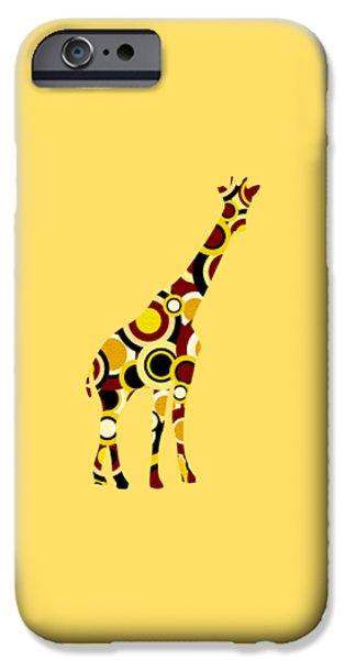 Little iPhone Cases - Giraffe - Animal Art iPhone Case by Anastasiya Malakhova