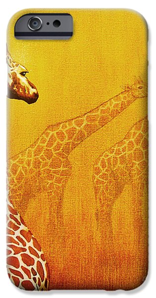 Couple iPhone Cases - Giraffe Memories iPhone Case by Jerome Stumphauzer