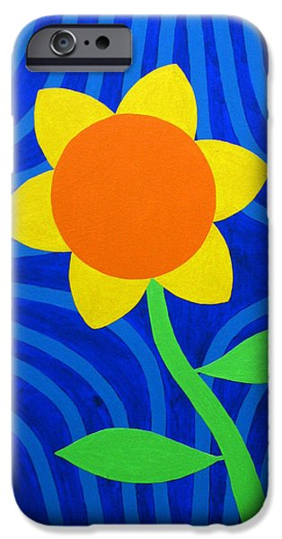 Girasol iPhone Cases - Girasol iPhone Case by Oliver Johnston