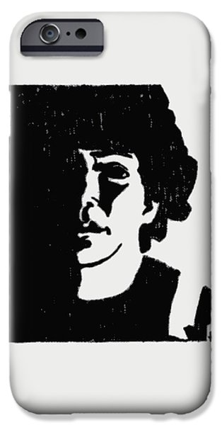 Girl in Shadow iPhone Case by Sheri Parris