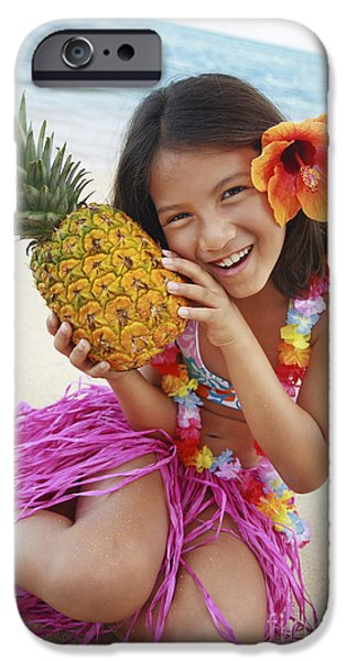 Girl in Tropical Paradise iPhone Case by Brandon Tabiolo - Printscapes