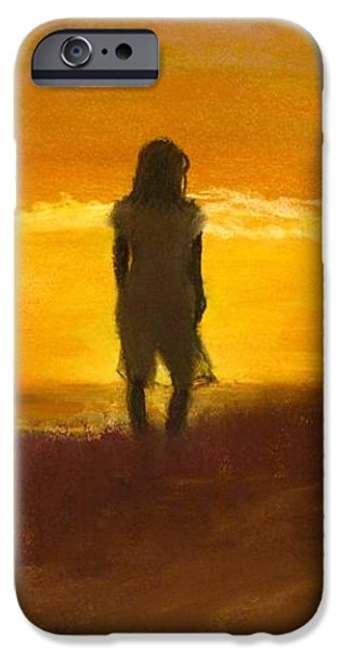 Girl on the Dunes iPhone Case by Jack Skinner