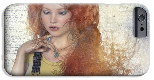 Model iPhone Cases - Girl with Beautiful Hair iPhone Case by Jutta Maria Pusl