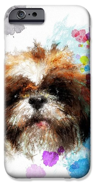 Puppies Digital iPhone Cases - Girls just wann have fun iPhone Case by Richard Okun